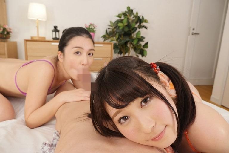 古川いおり・飛鳥りんのエロVR動画レビュー『美少女姉妹が関西弁で僕のチ○ポを奪い合う。お兄ちゃん淫語満載見つめ合いキスフェラチオ』を視聴した感想